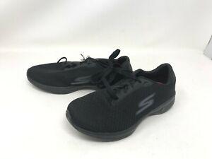 Womens Skechers (14175W) GO Walk 4 Glorify Black Wide walking shoes (422N)