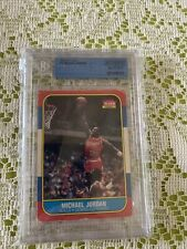 MICHAEL JORDAN 1986-87 FLEER ROOKIE CARD #57 BGS AUTHENTIC ALTERED