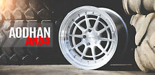 18X9.5 18X10.5 +30 Aodhan Ah04 5X100 Silver RIM Fits Vw Golf Gti JETTA STAGGERED