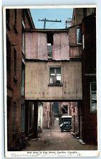 Quebec Canada Rue Sous le Cap Street Narrowest Street Car Vintage Postcard C82
