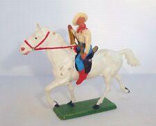 Figurine ancienne starlux farwest 61 cavalier cow boy avec lasso ref 418