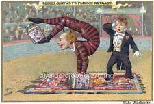 Print 1890s Circus Show - Clown Tricks with Jars