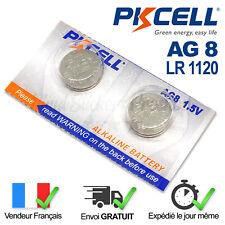 2 PILES LR1120 / AG8 / SR55 / 391 / SR1120W / 1,5V PKCELL ALCALINE ENVOI RAPIDE