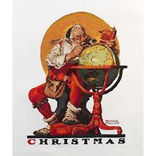 Bucilla Counted Cross Stitch Christmas Norman Rockwell Santa At The Globe 45961