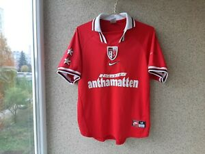 Sion Away football shirt 1998/2000 Jersey Size M Nike Soccer Red Switzerland OLD