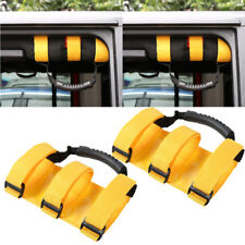 fit Jeep Wrangler JK Yellow Roll Grab Bar Handles 4WD Off Road Accessories 2pcs