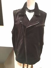 New Ralph Lauren Black Velour  Moto Vest Size 3x