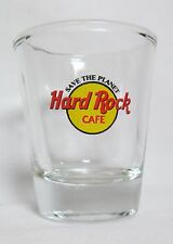 Hard Rock Cafe 'Save the Planet' Logo on Clear Shot Glass
