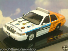 IXO 1/43 DIECAST 2012 FORD CROWN VICTORIA USA ARLINGTON POLICE SOBER RIDE MOC161