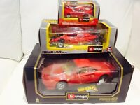 FERRARI RED 1/18 1/24 1/43 SCALE CAR DIE CAST BY BURAGO Model Cars Bundle