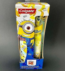 Colgate Minions GIFT SET Power Toothbrush & Fluoride Toothpaste Despicable Me