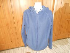 B P C POLYESTER BLUE HOODED EMBROIDERED BACK FLEECE CARDIGAN SIZE M [40/42]