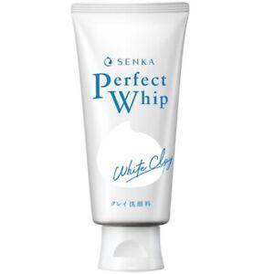 [SHISEIDO SENKA] Perfect Whip WHITE CLAY Facial Foam Cleanser Wash 120g NEW