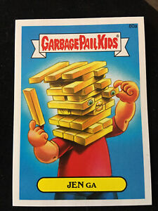 Garbage Pail Kids JENGA JEN GA # 80a Glossy Card Unused