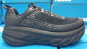 NEW Hoka Bondi 6 Wide (D) 1019272/BBLC Black Running Shoes For Women