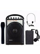 Used Hisonic Hs120B Portable Speaker System with Wireless Microphones Black