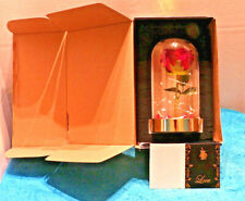 Home Seasons Beauty and The Beast Rose Themed Led Light in Glass Dome