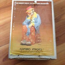 Emmett Kelly, Jr. Flambro seated clown figure