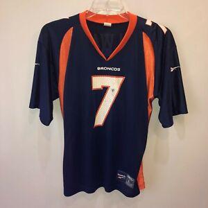 Denver Broncos John Elway Reebok Mens Large Blue NFL 1998 7 Jersey L Vintage