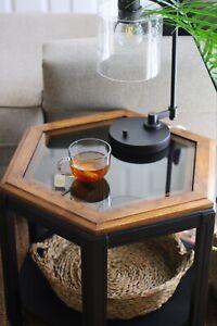 End Table Sofa Side End Storage Shelf Living Room Bedroom Furniture Black Stand