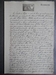 MANUSCRITO AÑO 1903 FISCAL 12º FUENTES DE BEJAR SALAMANCA CESIÓN DE UN PRADO