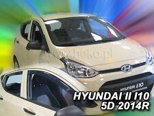HYUNDAI I10 II 5d from 2014 Wind Deflector HEKO FRONT+REAR 4 pcs