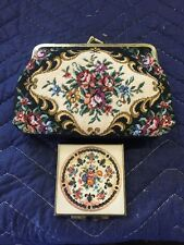 Vintage Tapestry Cosmetic Purse And Compact Mirror