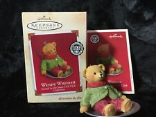 """2002 Hallmark """"Wendy Whoosh"""" Ornament With Box 2nd In The Snow Cub Club Series"""
