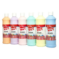 6 x 600 ml Scola Ready Mixed Poster Paint Pastel Colours Kids Paint