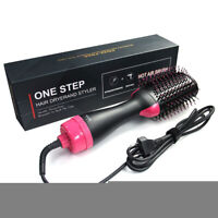HOT! 2In1 One Step Hair Dryer&Volumizer Brush Styler Straightening Curling Comb