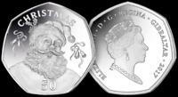 UNCIRCULATED 50p Fifty Pence Santa Claus CHRISTMAS XMAS GIBRALTAR 2017 coin RARE