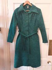 Fabulous Green vintage belted work shirt collar dress 10 12 secretary geek