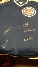 GREG MADDUX,MARK GRACE,DICK POLE,MITCH WILLIAMS, AUTOGRAPHED CHICAGO CUBS JERSEY