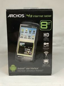 z1NEW Archos 43 android Internet Tablet 8GB, Wi-Fi HD Video Playback HDMI Sealed