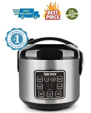 Aroma Housewares 2-8 Cup Digital Cool-Touch Rice Cooker & Food Steamer Stainless