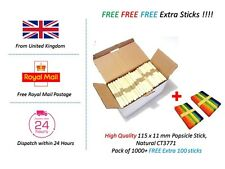 Cheapest Lollipop Lolly Wooden Sticks Natural Craft Lollies Ice Pops Popsicle UK
