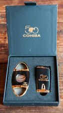 Limited Cohiba 50th Anniversary Lighter Cutter Combo Set Torch Flame Lighter