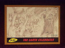 Topps MARS ATTACKS: The Revenge BRONZE Border card #P-52 The Earth Celebrates 22