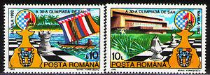 Romania 1992 Sc3746-47 Mi4799-800  2v  mnh  Chess Olympiad, Manila