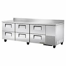 "True Twt-93D-6-Hc 93"" Work Top Refrigerated Counter"
