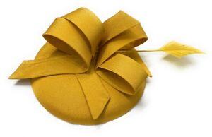 Sinamay Fabric Pillbox Hat Headband Feather Fascinator Ascot Hatinator Races UK