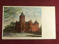 Vintage 1906 Postcard High School Building Racine Wisconsin
