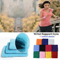 1 Pair Unisex Sports Sweat Sweatband Handband Yoga Gym Stretch Wrist Band Sale