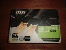 MSI NVIDIA GEFORCE GT 1030 2GB Low Profile OC GDDR5 Graphics Card