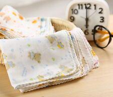 30pcs Cotton Colorful Baby Newborn Bathing Gauze Muslin Squares Washcloth Towel