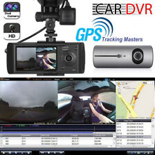 "2.7"" 1080P HD Car DVR CMOS Camera Video Recorder Dash Cam G-Sensor GPS Dual Lens"