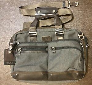 Tumi Alpha Bravo Slim Briefcase Bag - Anthracite