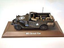 M3 SCOUT CAR MILITAIRE ATLAS 1/43 SECONDE GUERRE MONDIALE TANK CHAR 20