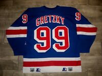Vintage 99 Wayne Gretzky New York Rangers Starter Hockey Jersey Size Large NHL