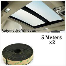 2x5M Car Window Sealant Rubber Sunroof Triangular Window Sealed Strips Seal Trim